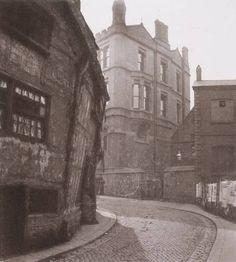 Poets' Corner, Long Millgate, Manchester 1870s      Manchester Grammar School on the back