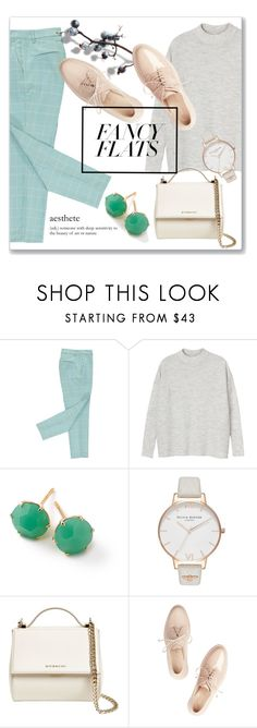 """Pastels"" by pinkdream235 ❤ liked on Polyvore featuring Monki, éS, Ippolita, Olivia Burton, Givenchy, Simone Rocha, pastel, polyvoreeditorial and chicflats"