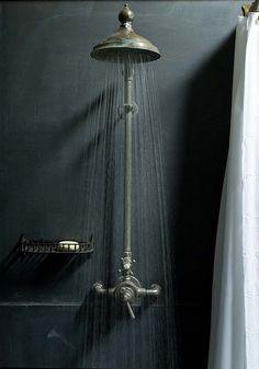 rustic vintage shower