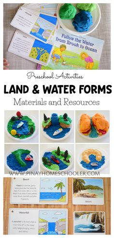 Materials and resources for land and water forms