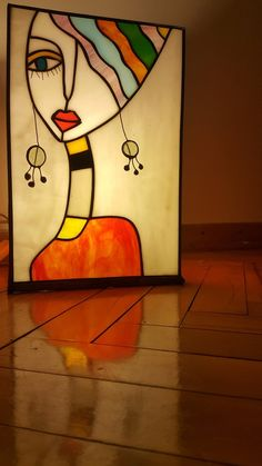 Items similar to Stained Glass Lamp Tiffany Table Square on Etsy - Malerei Abstract Face Art, Glass Painting Designs, Cubism Art, Arte Pop, Mosaic Art, Indian Art, Diy Art, Watercolor Art, Watercolor Video