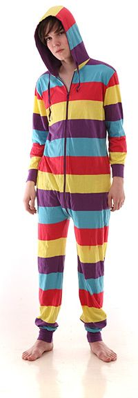 Our Festival Hooded Adult Onesie has been designed to steal the show at festivals, parties and carnivals. Its pure cotton with four color bold stripes Adult Onesie Pajamas, We Wear, How To Wear, We Are Festival, One Piece Pajamas, Bold Stripes, Hoods, Onesies, Pairs