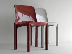 vintage pat. pending Vico Magistretti Selene Chairs, Artemide | cathode blue