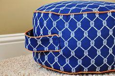 Floor cushions (two).