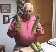 You will never boil another ear of corn-on-the-cob again, I promise!   Watch this adorable man's video on how to cook it and not have any silk left at all.  Fool Proof!  We cook ours then store in a small insulated cooler till its all done (for big picnics).
