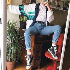 Ideas for fashion retro mens how to get hyunas retro fashion style Retro Outfits, Trendy Outfits, Vintage Outfits, Fashion Outfits, Fashion Trends, Fashion Fashion, Fashion Ideas, Fashion For Man, 80s Style Outfits