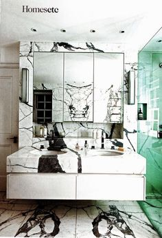 dramatic marble imperfections