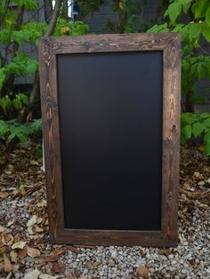 Add a rustic touch to your wedding or event with our 44x28 rustic framed chalkboard! Perfect for seating charts and wedding menus!    Each piece