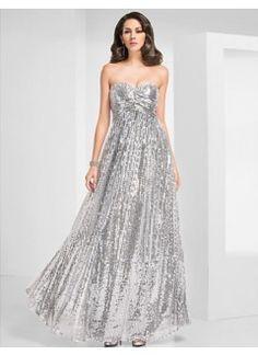 Gorgeous Sheath/Column Sweetheart Floor-length Sequined Evening Dress