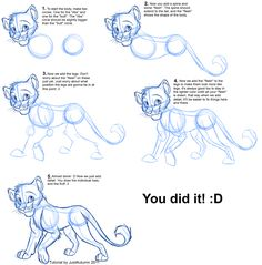 How to Draw: Feline Profile Tutorial by JustAutumn on deviantART