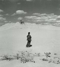 Shōji Ueda - Sand Dune with My Wife, c.1950 - Howard Greenberg Gallery