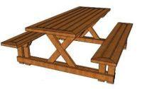 Picknicktafel in 3d formaat voor sketchup.