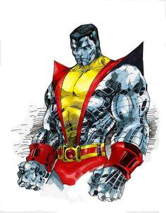 Colossus by Jim Lee - Marvel / DC stuff - Kasten Marvel Comic Character, Comic Book Characters, Comic Book Heroes, Marvel Characters, Comic Books Art, Comic Art, Comic Pics, Marvel Comics Art, Marvel Heroes