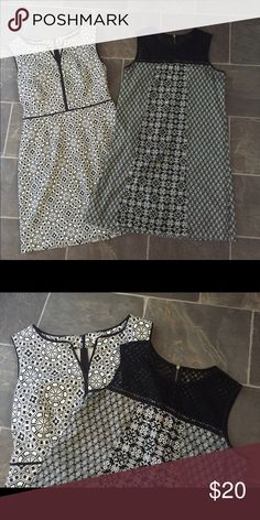 Target dress bundle Two target black and white dresses size medium. One is xhilaration and the other is merona (on the left) it has slight fading in the black areas because it is a t shirt material. Merona Dresses