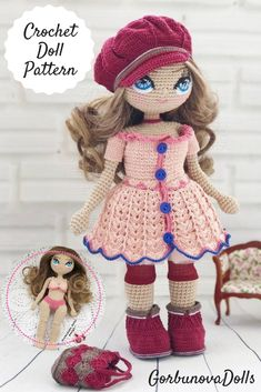 Mesmerizing Crochet an Amigurumi Rabbit Ideas. Lovely Crochet an Amigurumi Rabbit Ideas. Crochet Dolls Free Patterns, Crochet Doll Pattern, Doll Patterns, Free Crochet, Crochet Doll Dress, Crochet Clothes, Diy Dolls Tutorial, Amigurumi Tutorial, Tutorial Crochet