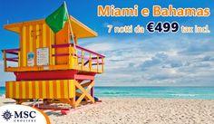 Scopri Stati Uniti, Giamaica, Isole Cayman, Messico e Bahamas a bordo di MSC Divina da Miami! Visiterai spiagge da sogno e l'affascinate Miami, con possibilità di aggiungere notti in Hotel al miglior prezzo! A bordo inoltre ti aspetta la qualità MSC Crociere, spettacoli, piscine e se desideri una vacanza esclusiva per te c'è l'area MSC Yacht Club con servizio maggiorodmo!