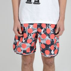 PAM X STUSSY, SS11 CAPSULE COLLECTION LUCA DOT SHORTS: all-over prints are amazing... when you have a great print. #perks_and_mini #stussy #collab #short