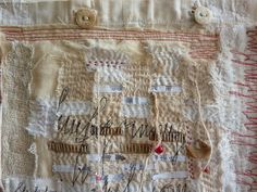 inleaf: heike gerbig blog - gerdiary.  \like the way stitches are on top of text