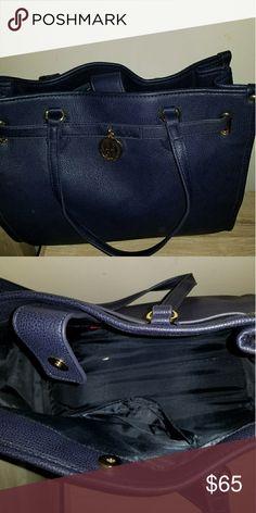New Navy Blue Tommy Hilfiger Shoulder Bag/Purse Navy blue leather large shoulder bag Tommy Hilfiger Bags Shoulder Bags