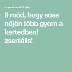 9 mód, hogy sose nőjön több gyom a kertedben! zseniális! Gardening, Household Tips, Cleaning, Home Hacks, Lawn And Garden, Home Cleaning, Diy Household Tips, Yard Landscaping, Horticulture