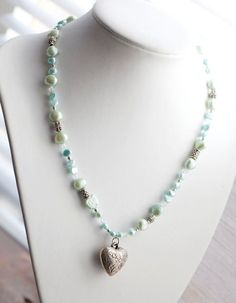 Mint green Freshwater Pearl Necklace