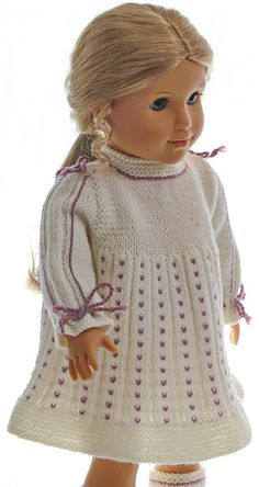 knitting patterns dolls clothes - so beautiful dressed on the doll that she could enjoy wearing it for any celebrating.