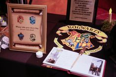 harry potter wedding guest book by Sachi Villareal Imaging @cleverwedding