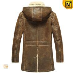 Sheepskin Coat for Men with Hood CW878159