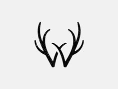 @Melanie Wieseler An awesome 'W' antler monogram. I think you guys might need this somewhere.