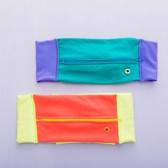How to Make a DIY Running Belt for Stashing Your Phone via Brit + Co Sewing Tutorials, Sewing Crafts, Sewing Projects, Sewing Patterns, Zipper Face, Zipper Pouch, Brit, Running Belt, Trail Running