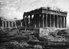 Athenian Acropolis, Parthenon, 1841 by Science Source Elgin Marbles, Parthenon Athens, Ancient Greek Architecture, Old Egypt, History Of Photography, First Photograph, Great Photographers, Athens Greece, Ancient History