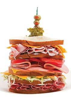 """The Dagwood-- This catchall for whatever ingredients you might have on hand was inspired by the towering sandwich that the character Dagwood in the syndicated comic strip """"Blondie"""" liked to eat."""