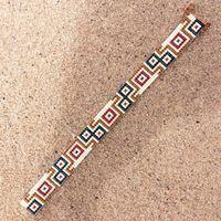 Safari Bead Loom Bracelet Bohemian Boho Artisanal by PuebloAndCo