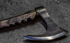 Awesome bearded axe with norse design!