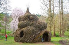 Stick sculptures. Very cool artist inspired art for kids. I think we can use tomato cages and grape vines.