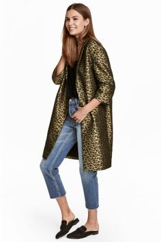 Manteau en tissu jacquard - Motif léopard - FEMME | H&M CA