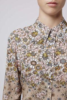Cerith Shirt By Unique - Topshop Floral Fashion, Unique Fashion, Fashion Prints, High Fashion, Vintage Fashion, Fashion Design, Textile Design, Textile Prints, Textiles