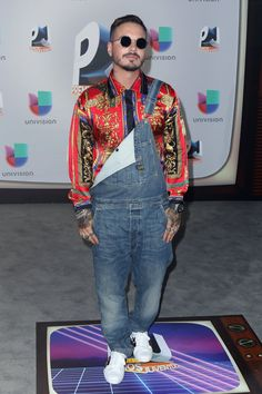 Pin for Later: All the Fiery Red Carpet Looks You Need to See From This Year's Premios Juventud J Balvin