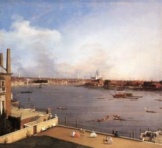 London: The Thames and the City of London from Richmond House, 1747 - Giovanni Antonio Canal