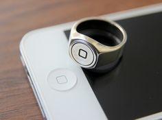 Anel com o botão Home do iPhone