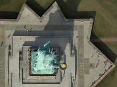 'Statue of Liberty,' New York, New York, U.S. Courtesy Cameron Davidson/SkyPixel  via @AOL_Lifestyle Read more: http://www.aol.com/article/2015/11/25/15-drone-photos-that-leave-us-speechless/21272199/?a_dgi=aolshare_pinterest#fullscreen