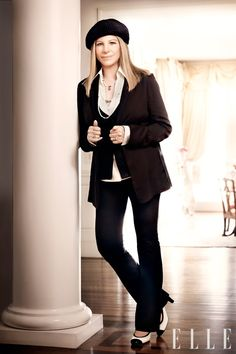 This entire look came from her closet....Barbara Streisand in Elle