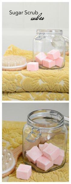 Sugar Scrub | Make this Sugar Scrub Cubes Recipe for smooth, soft exfoliated skin.  Perfect for a DIY gift idea for friends and family.: