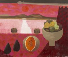 """""""Still Life with Fruit"""" by Mary Fedden."""