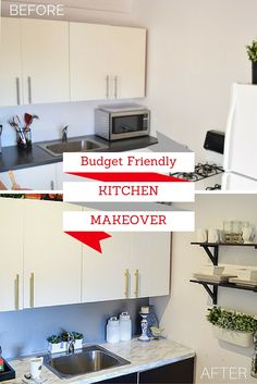 give your old battered kitchen a d-c-fix® makeover. before image ... - Dc Fix Folie Küche