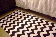 Adventures in Dressmaking: I am SO proud of my DIY zig zag rug--Tutorial!