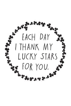 Shanna Murray 'Each Day I Thank My Lucky Stars For You' Decal – Home Apparel