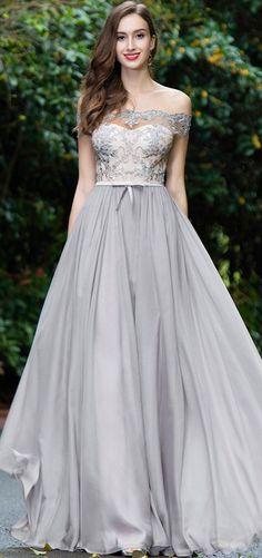 eDressit Grey Off Shoulder Lace Evening Gown