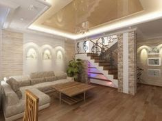 Interior design living room-beauty_8 photos Interior Stairs, Interior Design Living Room, Living Room Designs, Stainless Steel Stair Railing, Stairs In Living Room, Modern Stairs, Floating Stairs, Staircase Design, House Design