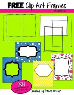 Free Frames, Volume 2 - 10 decorative frames for commercial or personal use!